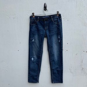 Vigoss Distressed Stretch Dark Skinny Jeans
